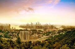 Skyline da cidade de Chongqing Fotografia de Stock Royalty Free
