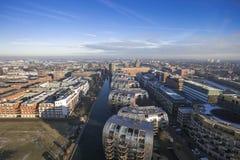 Skyline da cidade de cima dos Países Baixos fotografia de stock royalty free
