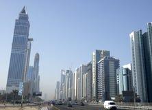 Skyline da cidade de Dubai imagem de stock