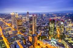 Skyline da cidade de Francoforte, Alemanha Fotografia de Stock Royalty Free