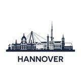 Skyline da cidade de Hannover ilustração do vetor