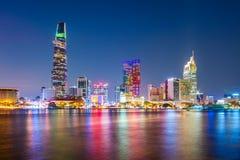 Skyline da cidade de Ho Chi Minh imagens de stock