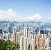 Skyline da cidade de Hong Kong Imagens de Stock