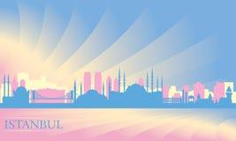 Skyline da cidade de Istambul Foto de Stock Royalty Free