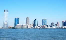 Skyline da cidade de Jersey Fotos de Stock Royalty Free