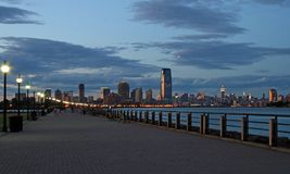 A skyline da cidade de Jersey Fotografia de Stock Royalty Free