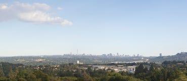 Skyline da cidade de Joanesburgo Fotos de Stock Royalty Free