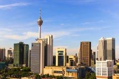 Skyline da cidade de Kuala Lumpur Foto de Stock