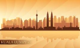 Skyline da cidade de Kuala Lumpur Fotos de Stock Royalty Free