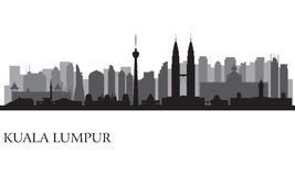 Skyline da cidade de Kuala Lumpur Foto de Stock Royalty Free