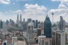 Skyline da cidade de Kuala Lumpur em Malásia Imagem de Stock