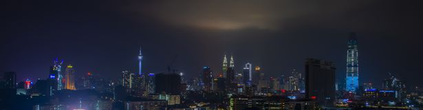 Skyline da cidade de Kuala Lumpur fotografia de stock