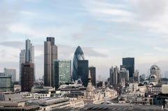 Skyline da cidade de Londres Fotos de Stock Royalty Free