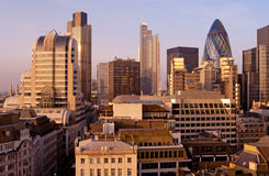 Skyline da cidade de Londres Imagem de Stock