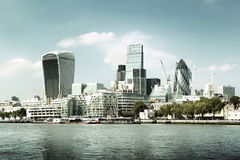Skyline da cidade de Londres Foto de Stock Royalty Free