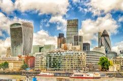 Skyline da cidade de Londres Foto de Stock Royalty Free