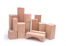 Skyline da cidade de madeira Foto de Stock Royalty Free