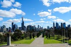 Skyline da cidade de Melbourne Foto de Stock Royalty Free