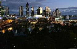 Skyline da cidade de Melbourne Fotos de Stock