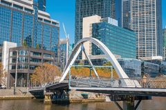 Skyline da cidade de Melbourne em Austrália Imagens de Stock