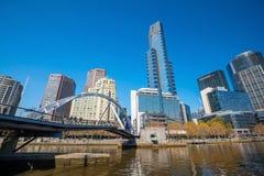 Skyline da cidade de Melbourne em Austrália Imagens de Stock Royalty Free