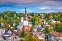 Skyline da cidade de Montpelier, Vermont, EUA fotografia de stock royalty free