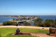 Skyline da cidade de Perth Fotos de Stock Royalty Free