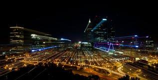 Skyline da cidade de Perth na noite Fotos de Stock