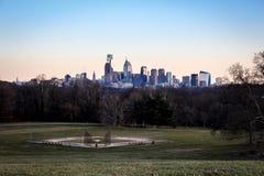 Skyline da cidade de Philadelphfia imagem de stock