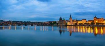 Skyline da cidade de Praga Imagem de Stock Royalty Free