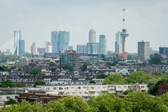 Skyline da cidade de Rotterdam imagens de stock