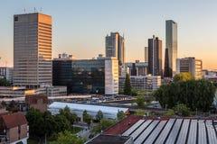 Skyline da cidade de Rotterdam Foto de Stock Royalty Free