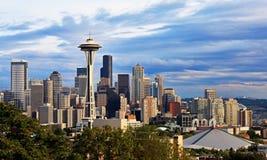 Skyline da cidade de Seatte Fotos de Stock