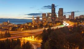 Skyline da cidade de Seattle Foto de Stock
