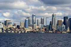Skyline da cidade de Seattle Imagem de Stock