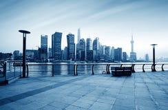 Skyline da cidade de Shanghai Imagens de Stock