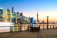 Skyline da cidade de Shanghai Fotos de Stock