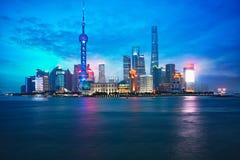 Skyline da cidade de Shanghai fotografia de stock royalty free