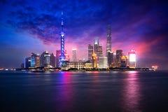 Skyline da cidade de Shanghai imagem de stock royalty free