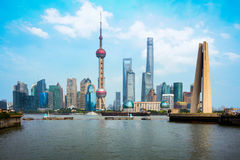 Skyline da cidade de Shanghai Fotografia de Stock