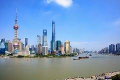 Skyline da cidade de Shanghai foto de stock royalty free