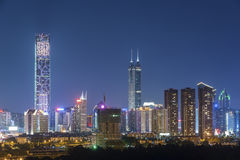 Skyline da cidade de Shenzhen, China Fotografia de Stock Royalty Free