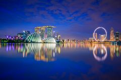 Skyline da cidade de Singapura Foto de Stock
