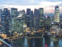 Skyline da cidade de Singapura Fotos de Stock Royalty Free