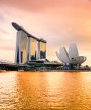 Skyline da cidade de Singapura Fotografia de Stock Royalty Free