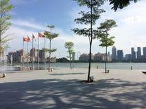 Skyline da cidade de Singapura Imagem de Stock Royalty Free