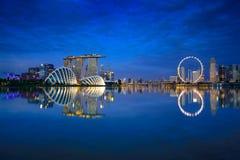 Skyline da cidade de Singapura Imagens de Stock