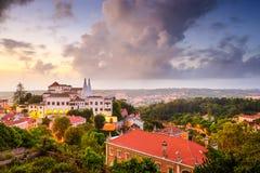 Skyline da cidade de Sintral Portugal Fotos de Stock Royalty Free