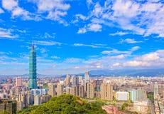 Skyline da cidade de Taipei Fotografia de Stock