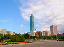 Skyline da cidade de Taipei, Taiwan Fotos de Stock Royalty Free